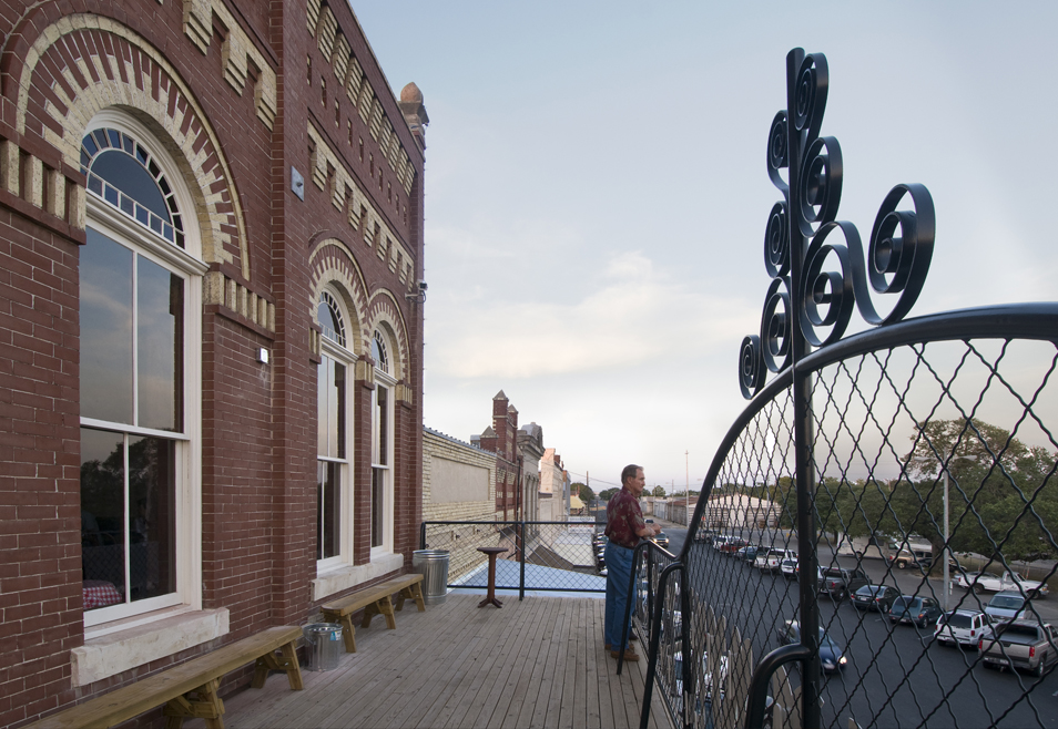 Restored balcony Hester + Hardaway